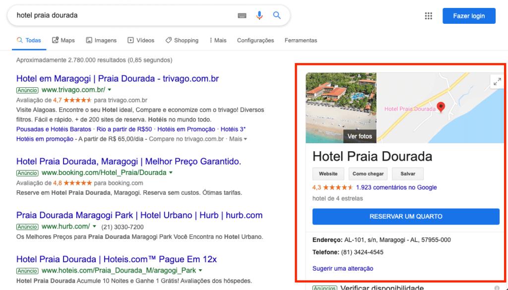 Google Meu Negócio Hotel